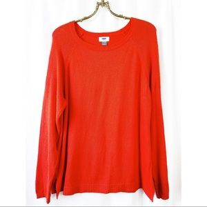 🌸2/30 Old Navy relaxed fit red pullover sweater